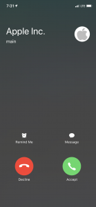 apple calling scam