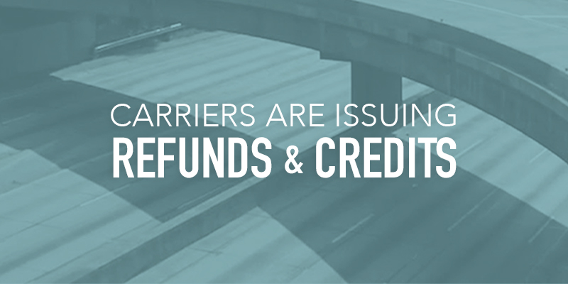 image of empty road and title carriers are issuing refunds and credits