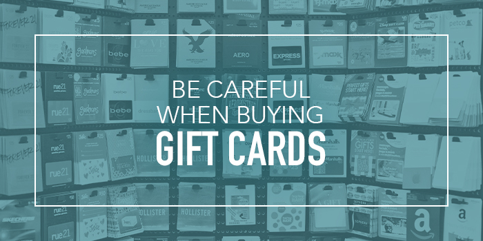 Look Out for Gift Card Scams
